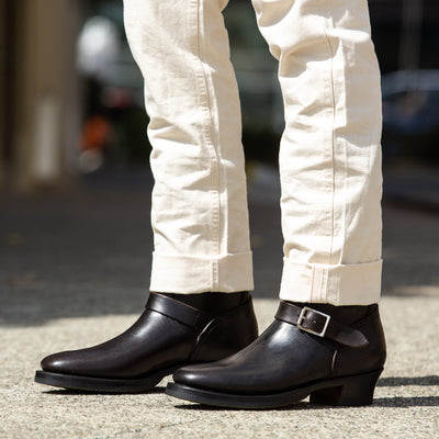 Clinch Boots Engineer Boots - Black Overdyed Horsebutt - CN Wide Last - Standard & Strange