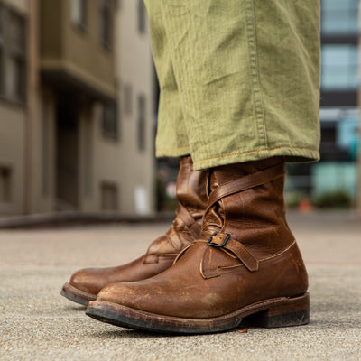 Tanker Boots - Havana Burnished Roughout