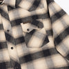 Dollard Shirt - White/Beige/Navy Check Flannel