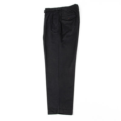 Gurkha Trousers - Black Slubby Sateen