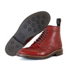 [Pre-order for November 2020 delivery] Brogue Boots - Burgundy Vacchetta