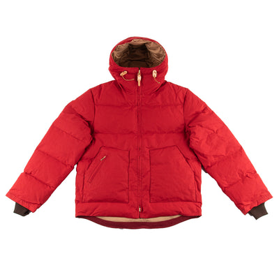 Down Hooded Jacket - Red