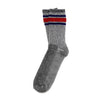 Merino Activity Sock - Grey w/ Navy/Red