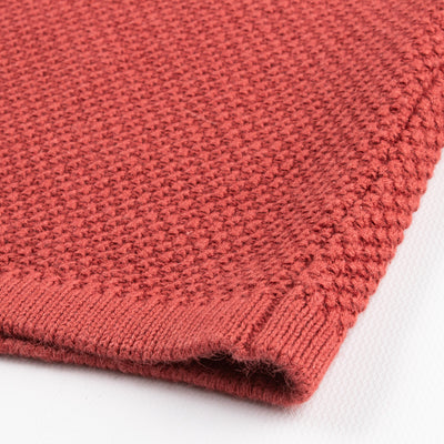 Continuous Mock Neck Sweater - Coral