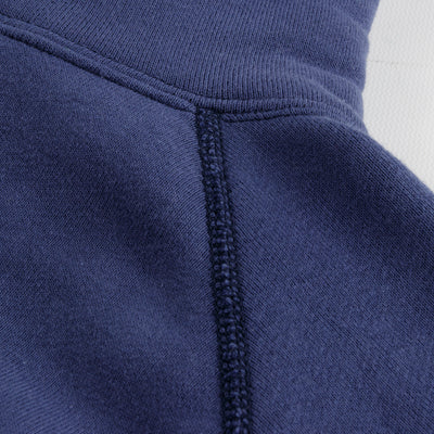 The Real McCoy's 9oz Loopwheel Pullover Hoodie - MQ Navy - Standard & Strange