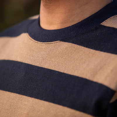Buco Heavy Stripe Racing Jersey - Brown/Black