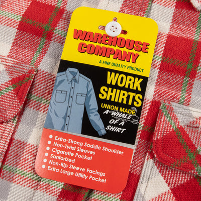 Warehouse Flannel Shirt - Red Check - Standard & Strange