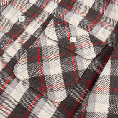 Flannel Shirt - Charcoal/Red Check