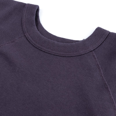 Loopwheel Short Sleeve Pocket Sweatshirt - Navy