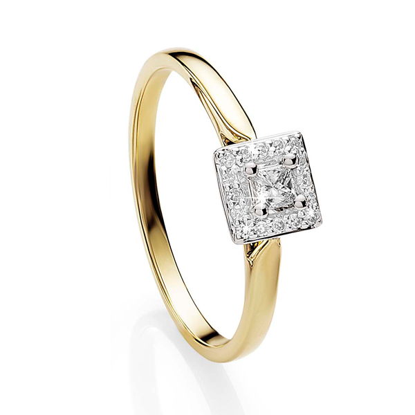 9ct Gold 0.15ct Diamond Engagement Ring