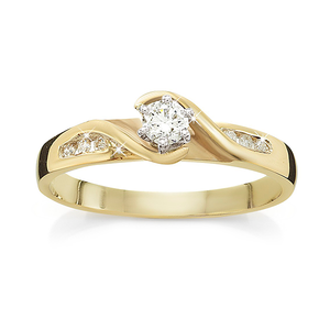 9ct Gold 0.17ct Diamond Engagement Ring