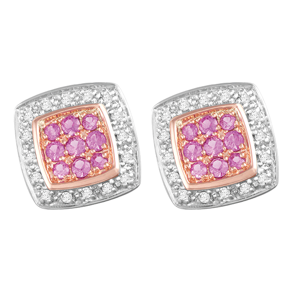 9ct Gold Pink Sapphire Dress Earring