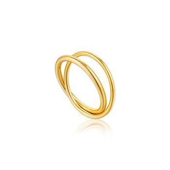 Ania Haie Gold Modern Minimalism Double Wrap Ring