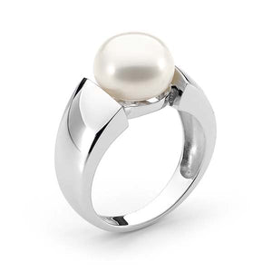 Ikecho Freshwater Button Pearl Ring