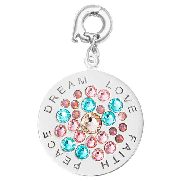 Nikki Lissoni Silver Plated Love Faith Peace 25mm Charm