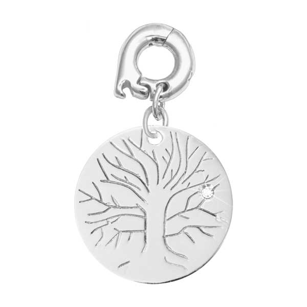 Nikki Lissoni Silver Plated Wisdom Tree 20mm Charm