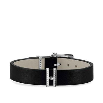 Thomas Sabo Black Leather Bracelet 17-20cm