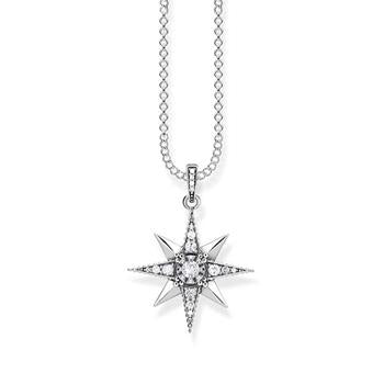 Thomas Sabo Kingdom Cubic Zirconia Star Necklace 40-45cm