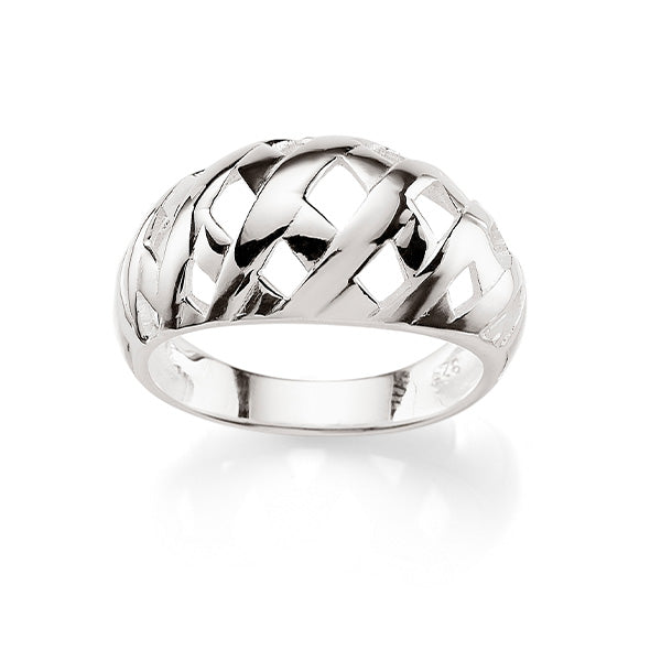 Sterling Silver Woven Dome Ring