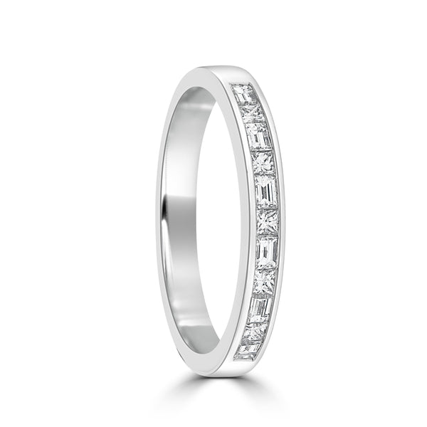 18ct White Gold Channel Set Diamond Wedding Ring