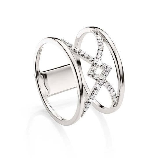 Sterling Silver Cubic Zirconia Dress Ring