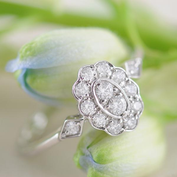 Diamond Engagement Ring Vintage Inspired