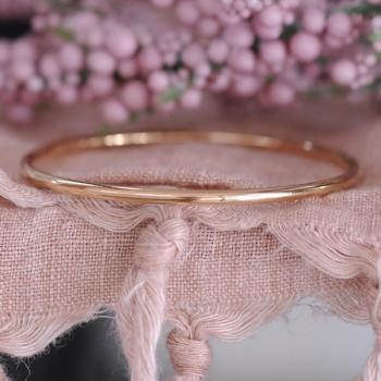 Rose Gold 9k Round Bangle