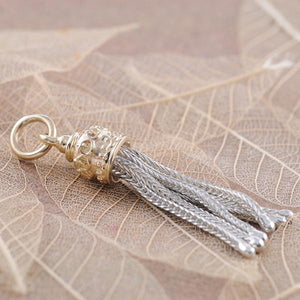 Tassle in 9ct Yellow Gold and Sterling Silver