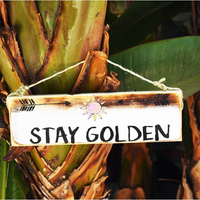 Stay Golden Beach Sign - Tropical - Wood Sign