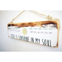 There Is Sunshine In My Soul Beach Sign - Beach & Trendy- Wood Sign