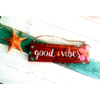 Good Vibes Nautical Sign - Hawaiian & Tropical - Wood Sign