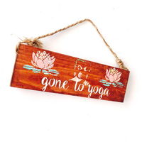 Gone To Yoga Wood Sign -  Buddha Design - Wood Sign