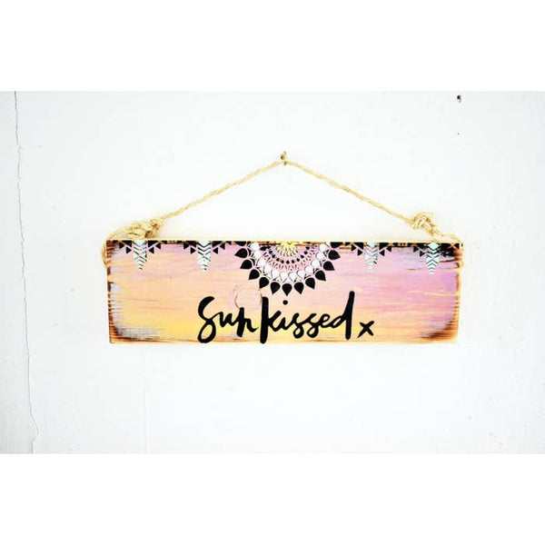 Sunkissed Beach Sign - Beach & Trendy- Wood Sign