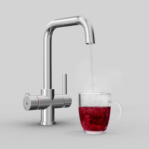 Fohen Fahrenheit Polished Chrome Boiling Water Tap with Red Cup