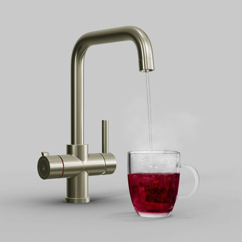 Fohen Fahrenheit Brushed Nickel Boiling Water Tap with Red Cup