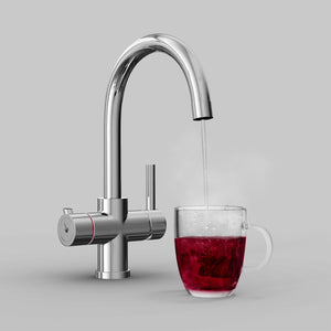 Fohen Furnas Polished Chrome Boiling Water Tap with Red Cup