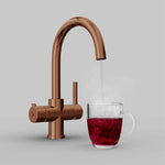 Fohen Furnas Polished Bronze Boiling Water Tap with Red Cup