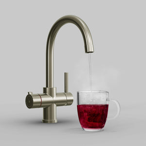 Fohen Furnas Brushed Nickel Boiling Water Tap with Red Cup