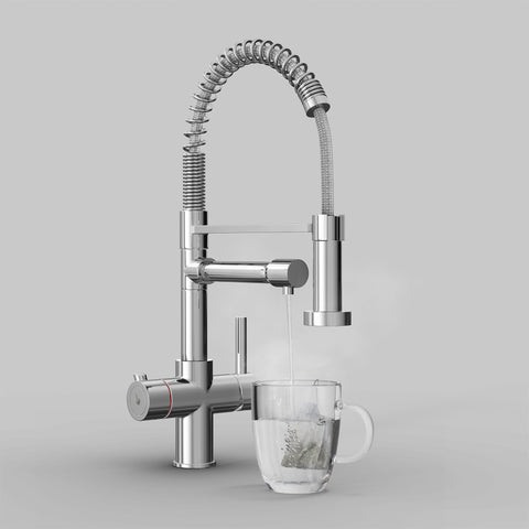 Fohen Flex Polished Chrome Boiling Water Tap
