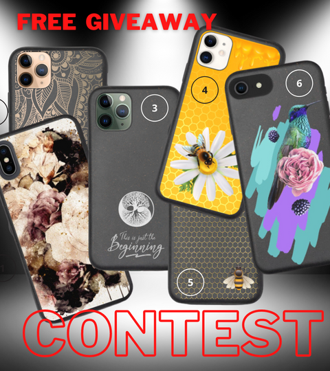 Giveaway of free iPhone case contest apply through Instagram