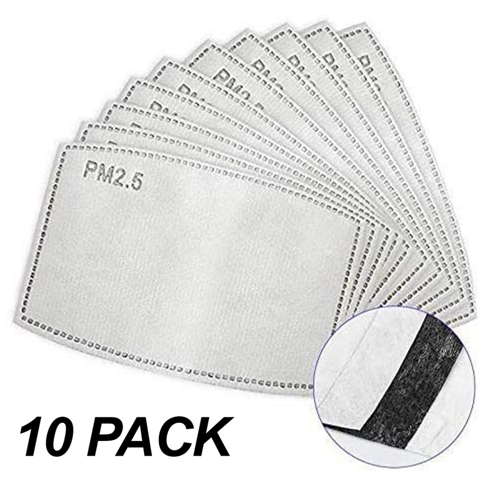 Activated Carbon Filter 10 Pack for face masks | Printing Boutique, UK