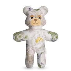 Floral Printed Teddy Bear for babies and toddlers, made in UK, handmade stuffed animals