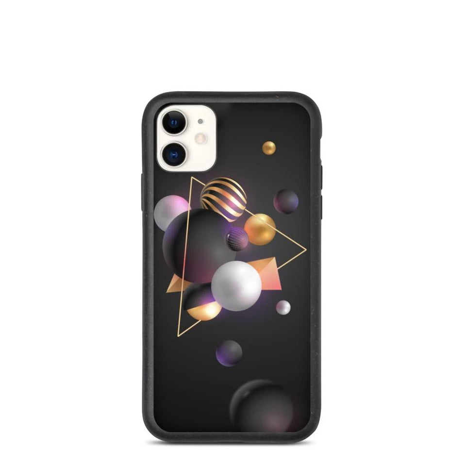 "Plastic free Eco-Friendly iPhone Case ""3D Art"" made in Latvia, EU"