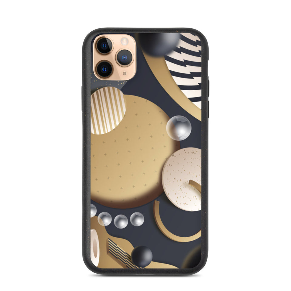 "Plastic free Eco-Friendly iPhone Case ""3D Bubbles"" made in Latvia, EU"