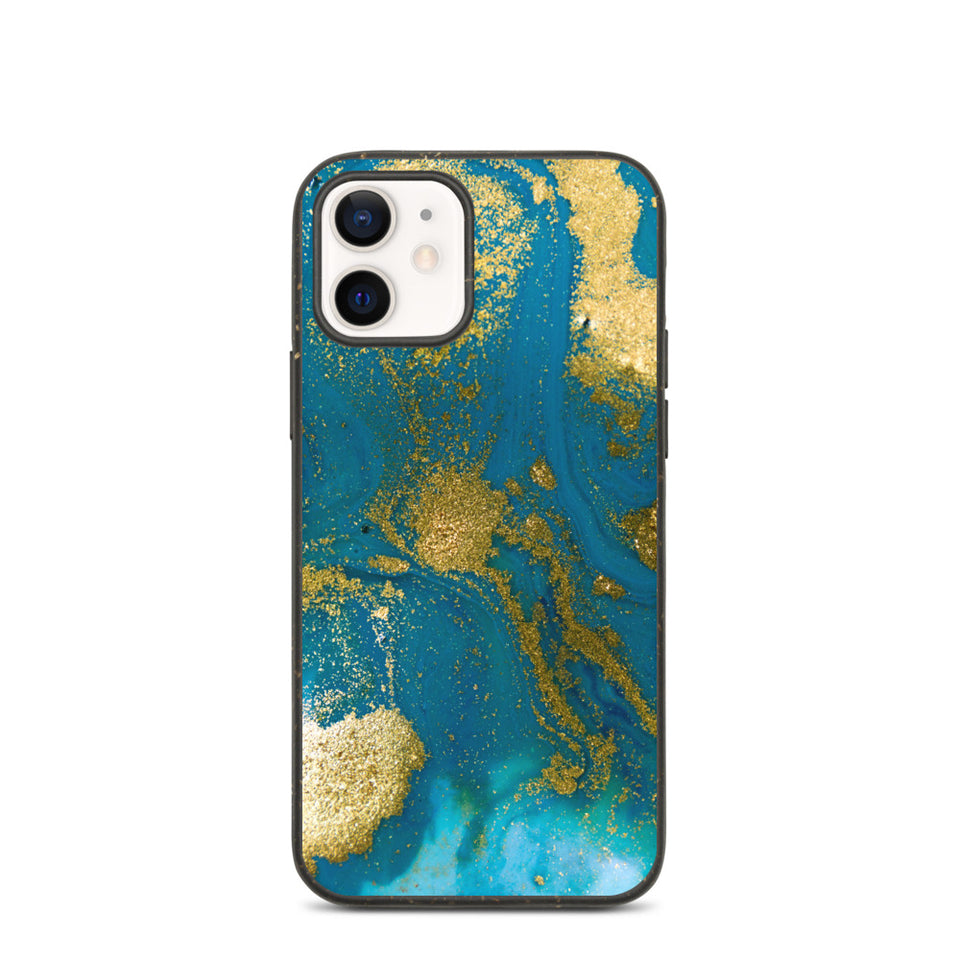 "Plastic free Eco-Friendly iPhone Case ""Floating Flowers"" made in Latvia"