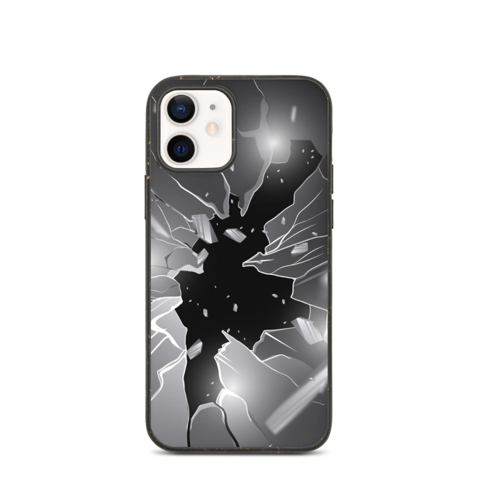 "Plastic free Eco-Friendly iPhone Case ""Broken Glass"" made in Latvia"