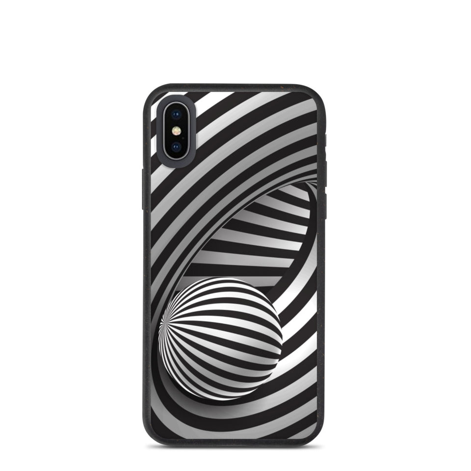 "Plastic free Eco-Friendly iPhone Case ""3D Illusion"" made in Latvia, EU"