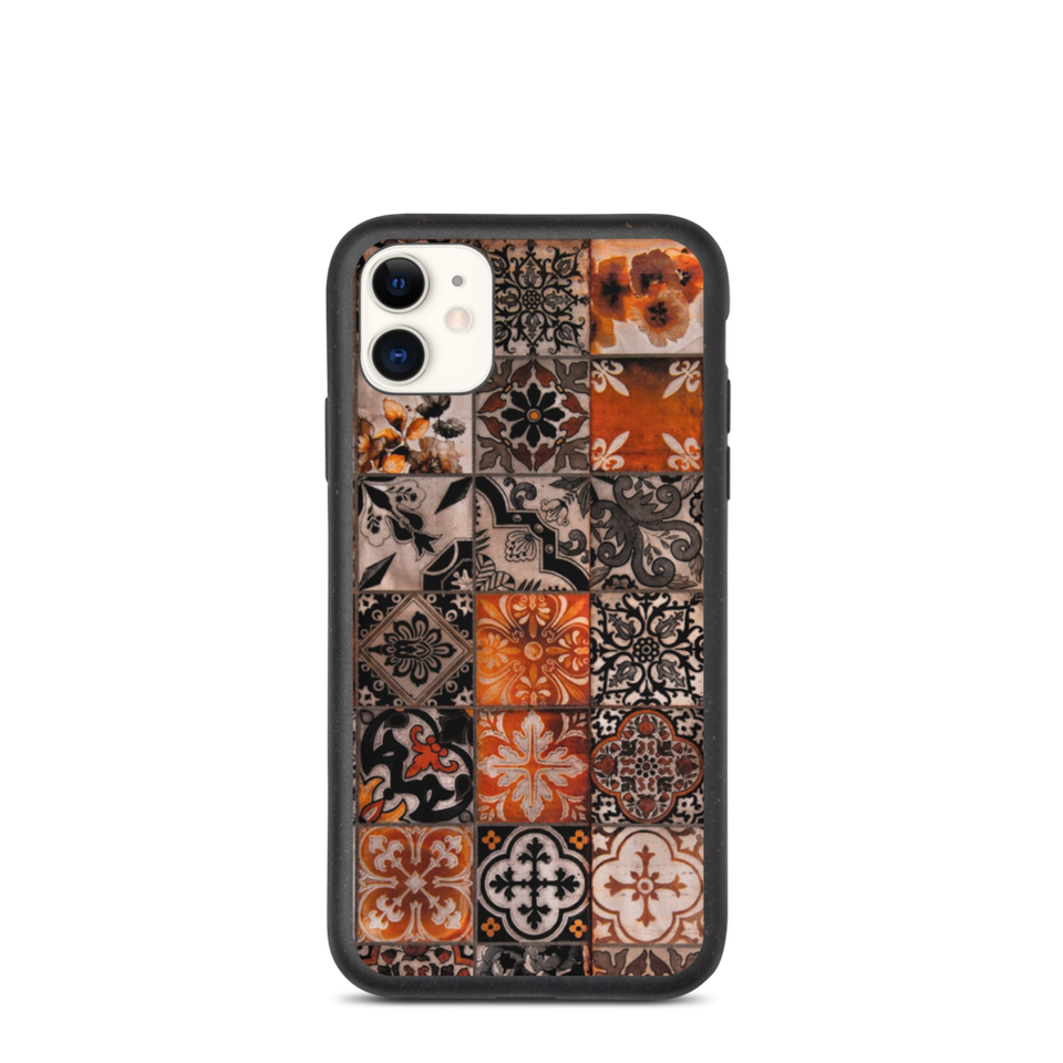 Eco tiles print iphone case, anti-shock, plastic free. Made in EU