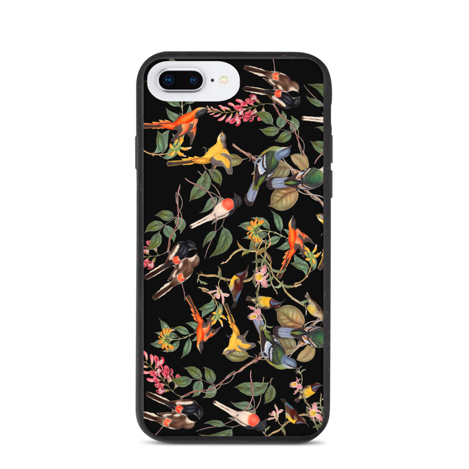 "Biodegradable Eco Friendly iPhone Case ""Birdies"", made in Latvia, EU"