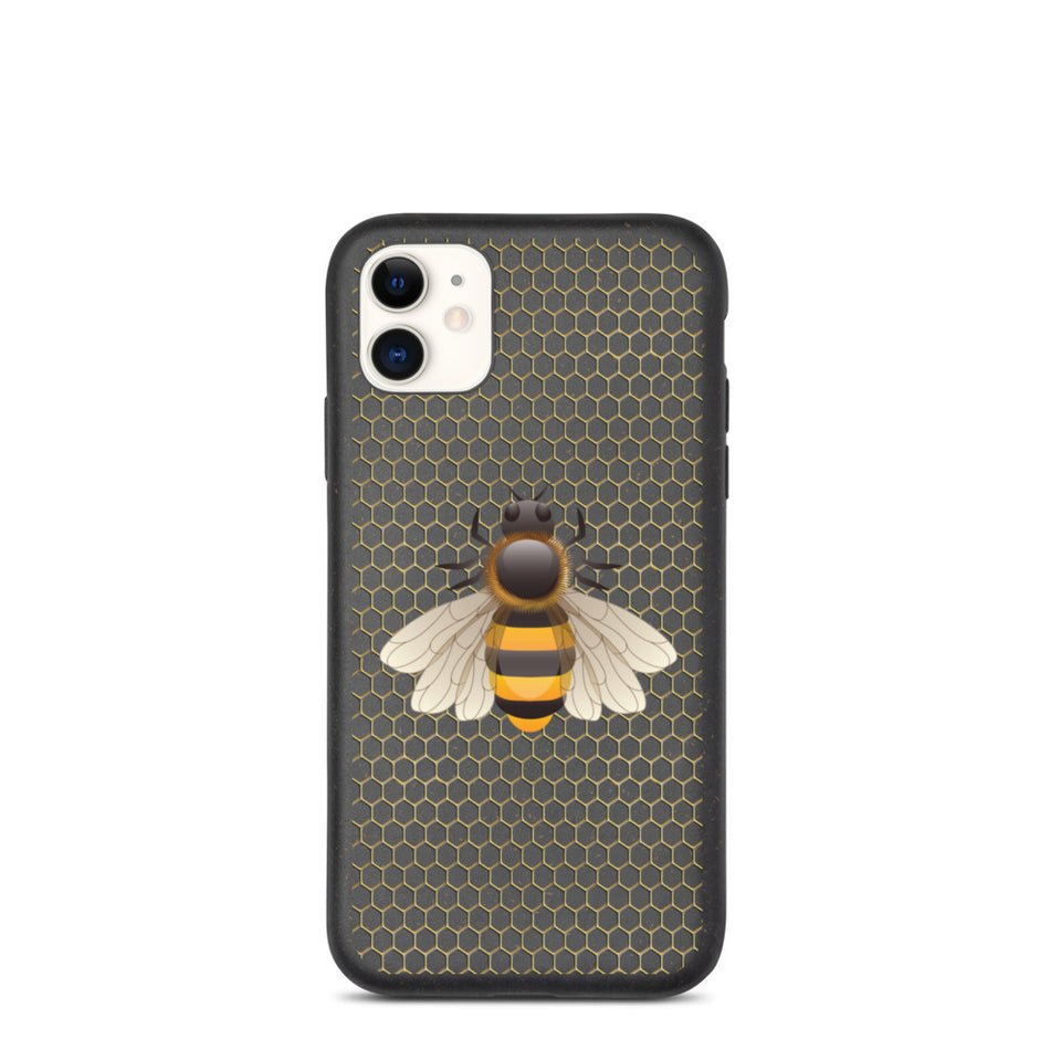 "Biodegradable Eco Friendly iPhone Case ""Bee"", made in Latvia, EU"